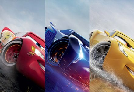 "Wallpaper mural Disney Cars ""Blue Red Yellow"""